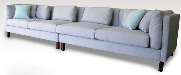 Sunshione large 4 seater in Warwick blue fabric