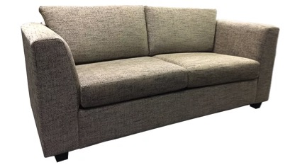 Byron Fabric couch in taupe fabric
