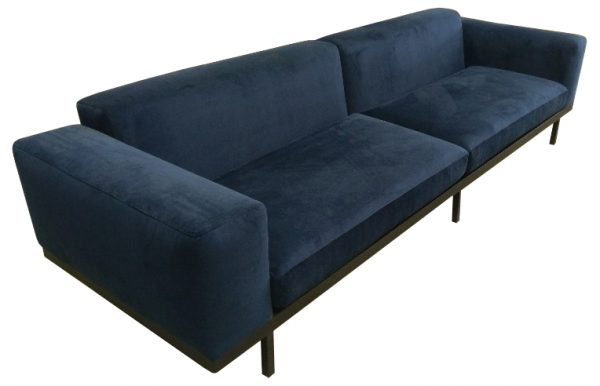 Hervey 4 seater in blue fabric