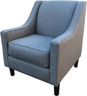Waratah accent chair in blue warwick fabric
