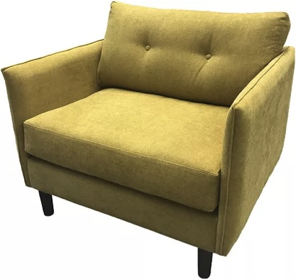 Wattle fabric armchair in corn warwick fabric