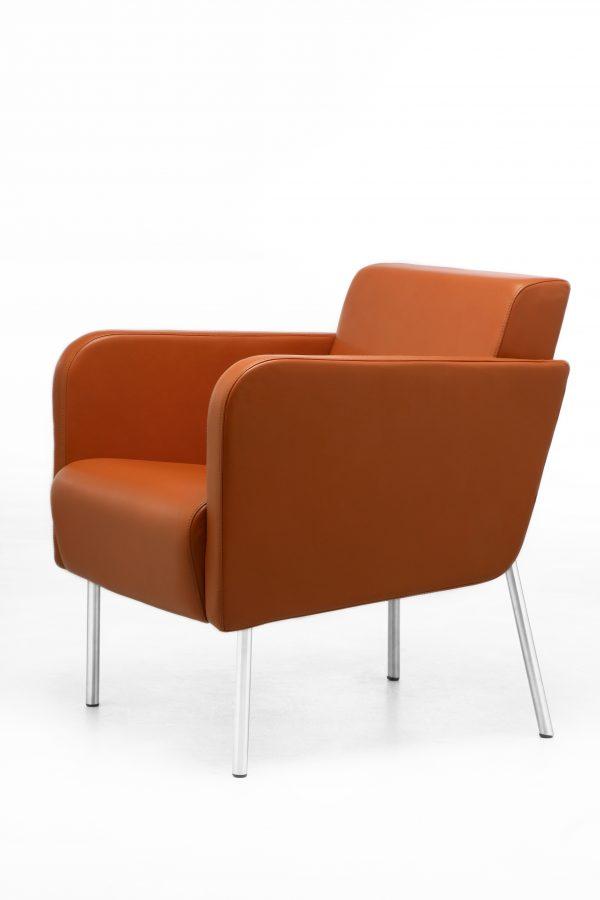 Acacia Accent Chair in orange fabric