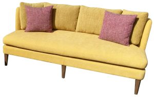 Ballarat high back 3 seater fabric lounge in yellow fabric