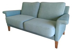 Banksia Australian Made sofa in blue fabric