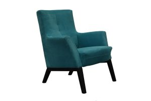 Bendigo fabric feature chair in blue fabric